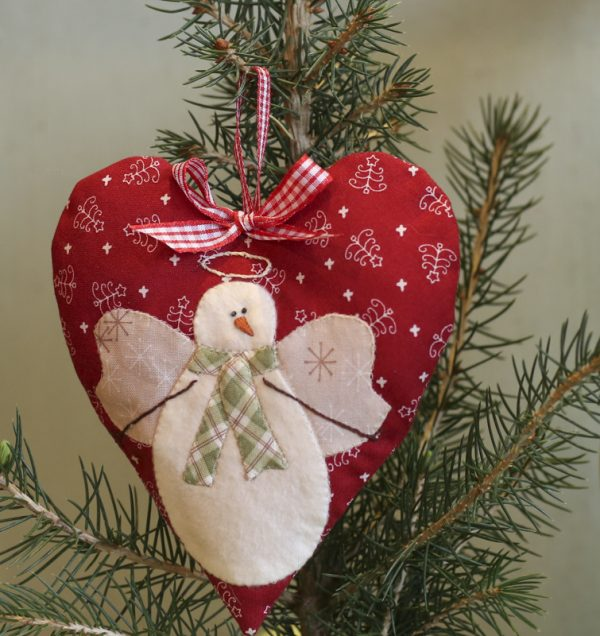January Snow Angel, Snow Happy Hearts from Bunny Hill Designs