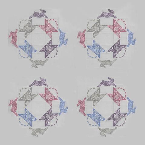 Four Bunny Blocks