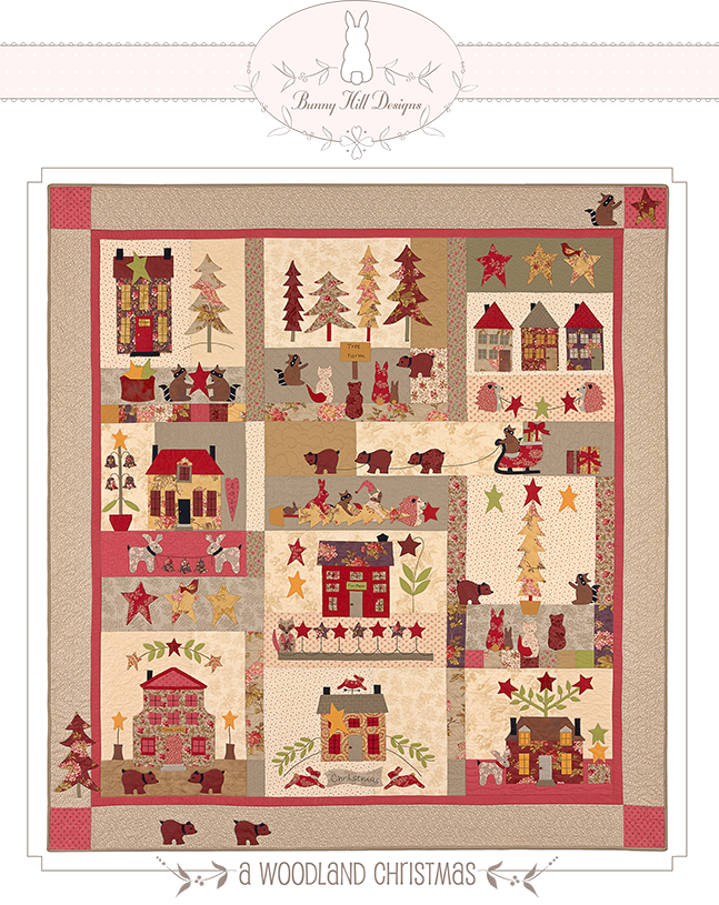Bunny Hill On Pinterest House Quilts Block Of The Month