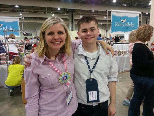 Kimberly & Doug at Spring Quilt Market 2014