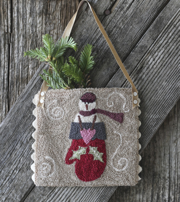 Bundle Up Punchneedle from Bunny Hill Designs