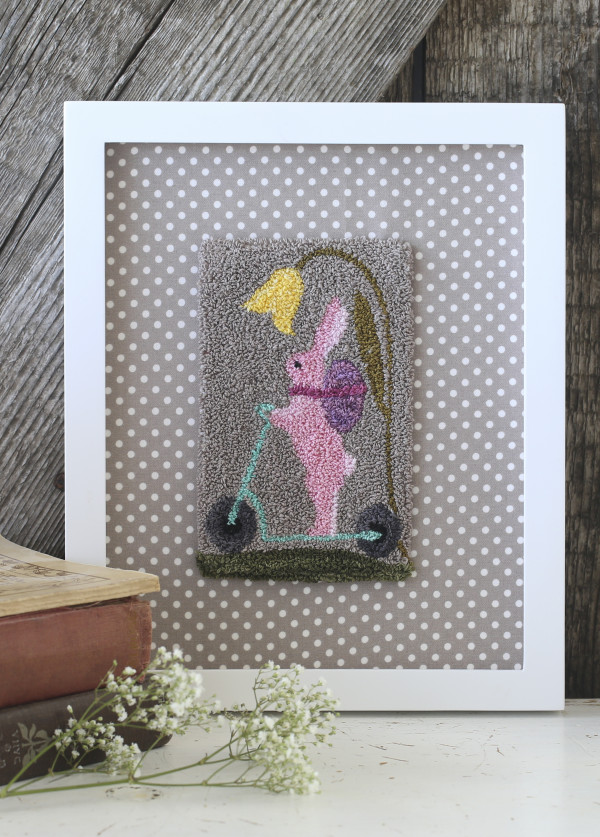 """Wild Hare"" Punchneedle from Bunny Hill Designs"