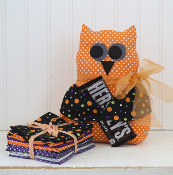 "Olivia Owl made with our ""Dottie"" bundle"