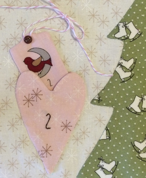 Mistletoe Lane Advent Quilt Pocket