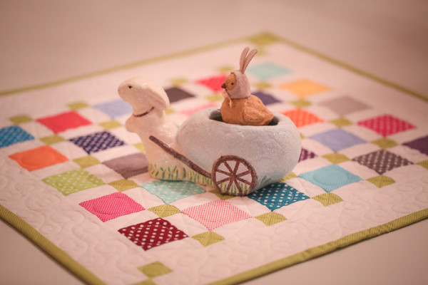 Bunny Hill Dottie Mini  Charm Quilt for Easter