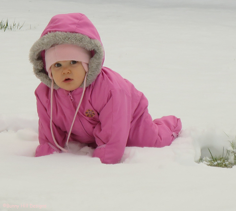 Maya in the snow